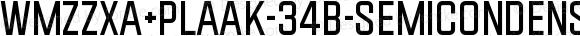 WMZZXA+Plaak-34B-SemicondensedRegular 34B-SemicondensedRegular
