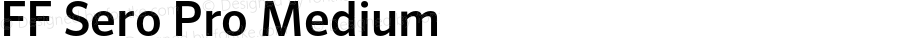 FF Sero Pro Medium Version 7.504; 2011; Build 1022