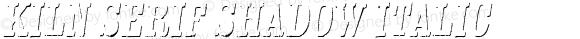 Kiln Serif Shadow Italic