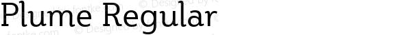 Plume Regular Version 1.011