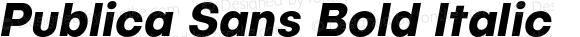 Publica Sans Italic Bold