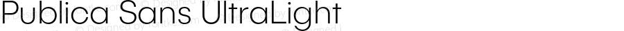 PublicaSans-UltraLight