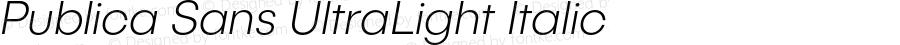 PublicaSans-UltraLightItalic