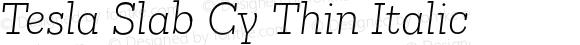 Tesla Slab Cy Thin Italic