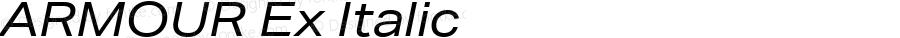 ARMOUR Ex Italic Version 1.000