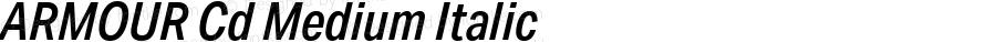 ARMOUR Cd Medium Italic Version 1.000