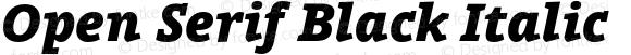Open Serif Black Italic