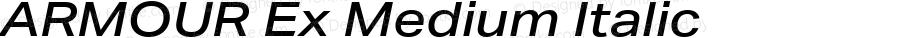 ARMOUR Ex Medium Italic Version 1.000