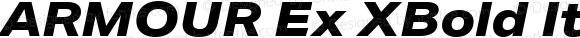 ARMOUR Ex XBold Italic Version 1.000