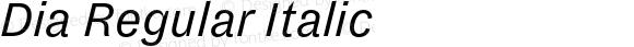 Dia Regular Italic