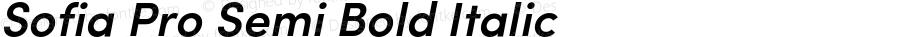 SofiaProSemiBold-Italic