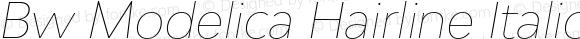 Bw Modelica Hairline Italic