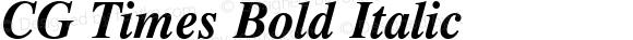 CG Times Bold Italic