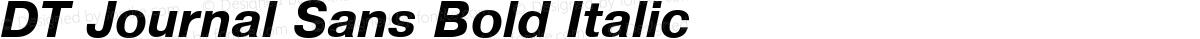 DT Journal Sans Bold Italic