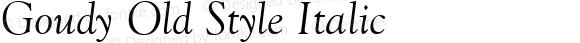 Goudy Old Style Italic
