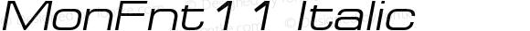 MonFnt11 Italic