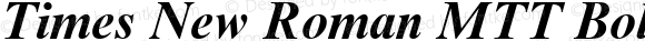 Times New Roman MTT Bold Italic