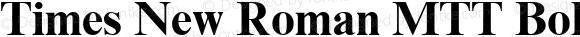 Times New Roman MTT Bold