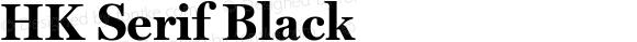 HK Serif Black