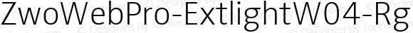 ZwoWebPro-ExtlightW04-Rg Regular Version 7.504