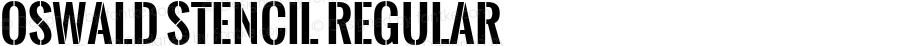 Oswald Stencil Regular 1.000