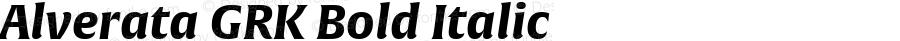 Alverata GRK Bold Italic Version 1.001