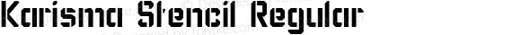 Karisma Stencil Regular