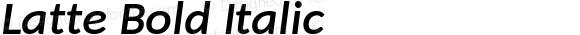 Latte Bold Italic