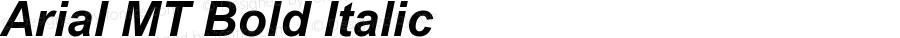 Arial MT Bold Italic 001.001