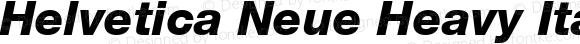 Helvetica Neue Heavy Italic