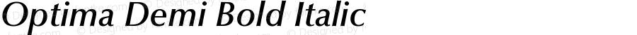 Optima Demi Bold Italic 001.000