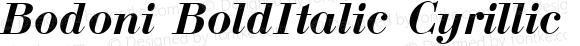 Bodoni BoldItalic Cyrillic