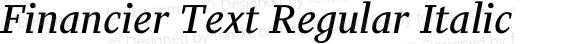 Financier Text Regular Italic