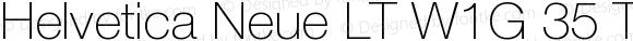 Helvetica Neue LT W1G 35 Thin