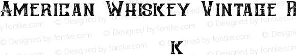 American Whiskey Vintage Regular 1.000