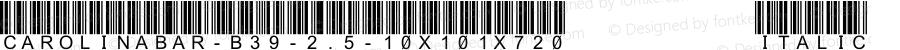 CarolinaBar-B39-2.5-10x101x720 Italic Version 4.0