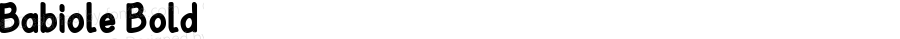 Babiole Bold Fontographer 4.7 4/01/12 FG4M0000002045