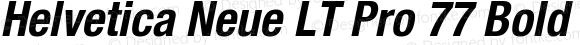 Helvetica Neue LT Pro 77 Bold Condensed Oblique