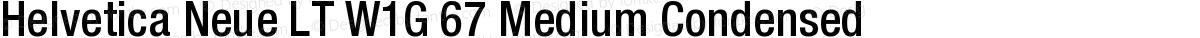 Helvetica Neue LT W1G 67 Medium Condensed