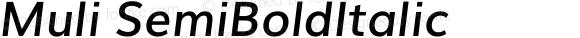 Muli SemiBoldItalic