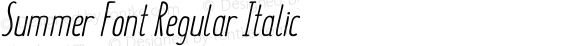 Summer Font Regular Italic