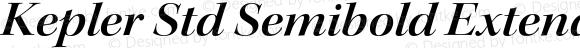 Kepler Std Semibold Extended Italic Display