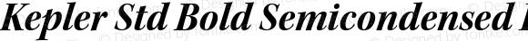 Kepler Std Bold Semicondensed Italic Subhead
