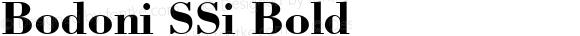 Bodoni SSi Bold 001.000
