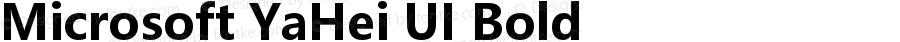 Microsoft YaHei UI Bold Version 6.23