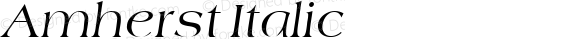 Amherst Italic v1.0c