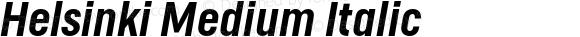 Helsinki Medium Italic