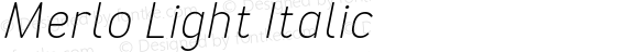 Merlo Light Italic