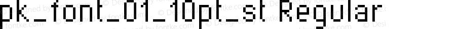 pk_font_01_10pt_st Regular Version 1.0