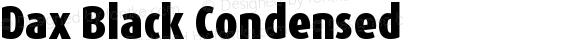 Dax Black Condensed